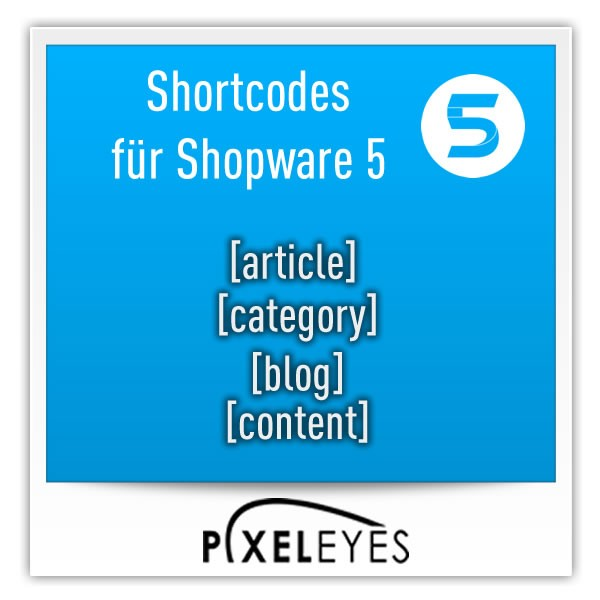 Shortcodes für Shopware 5