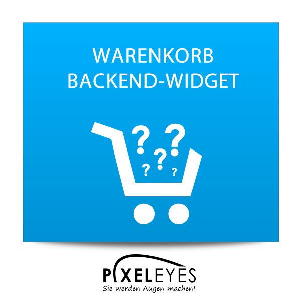Warenkorb Backend Widget