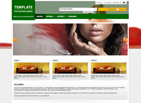 Xt:Commerce 4.1 Template Green Fashion