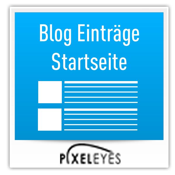 Blogeinträge auf Startseite