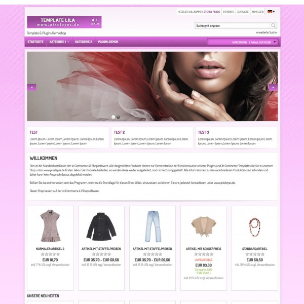 Xt:Commerce 4.1 Template Beauty Wellness