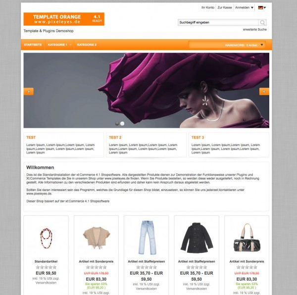 Xt:Commerce 4.1 Template Orange