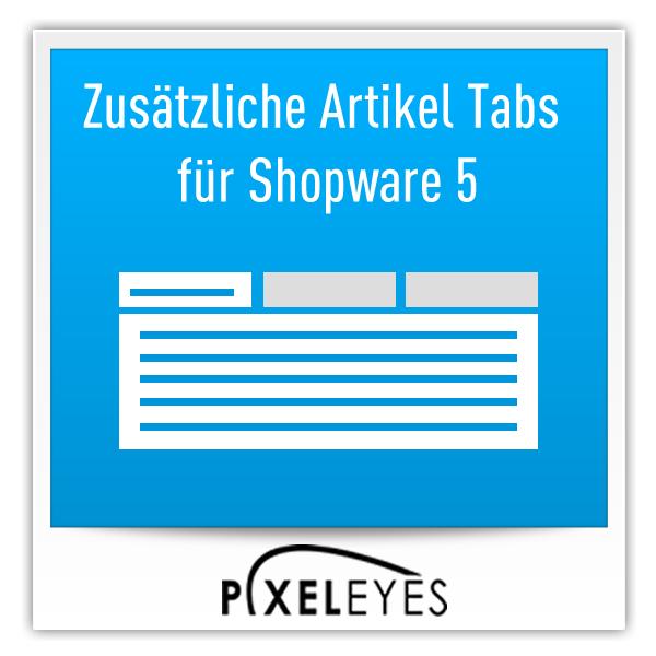 Zusätzliche Artikel Tabs für Shopware 5