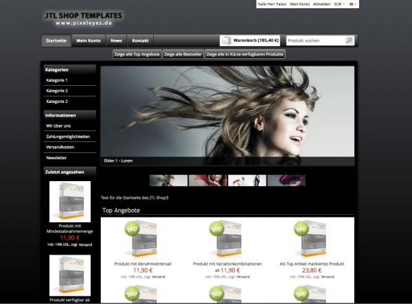 JTL Shop Template Black