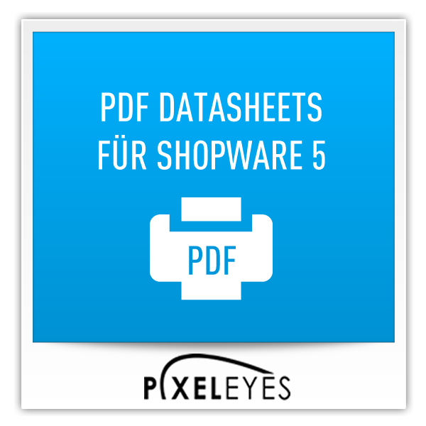 PDF Datasheets für Shopware 5