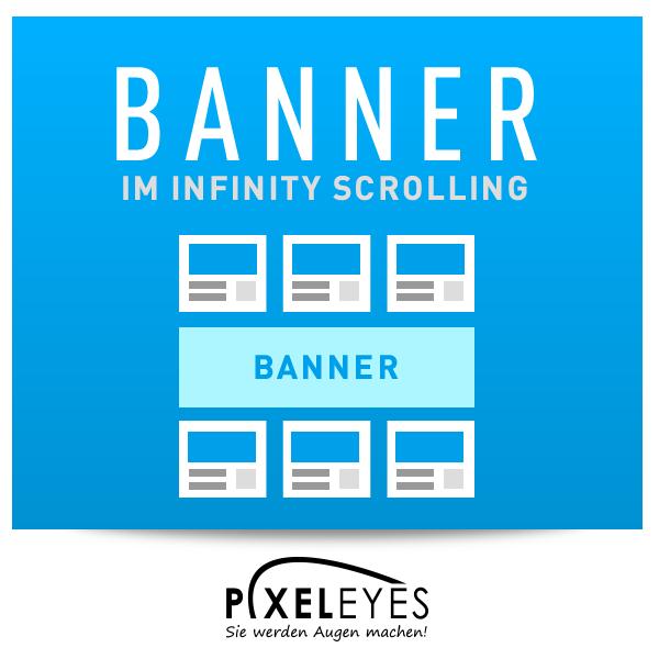 Banner im Infinity Scrolling